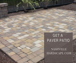 This Is An Image Of A Paver Patio In Brown, Tan And Gray, Paver