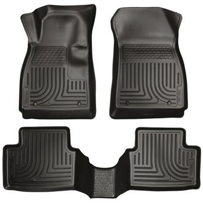 Husky Liners Weatherbeater Black Front Back Seat Floor Mats 2011 2016 Ford Fiesta Mazda 6 Chevrolet Ford Fiesta St