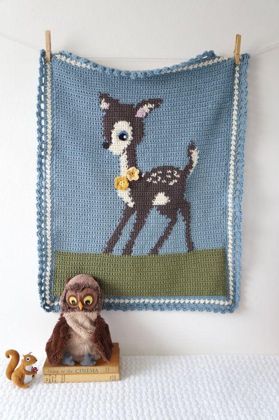 Woodland Nursery Deer Blanket Patterns For Baby Boy Blanket Girl