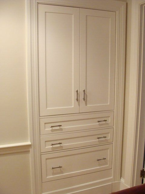Built In Linen Closet Cased Door Trim To Match Leading WIC