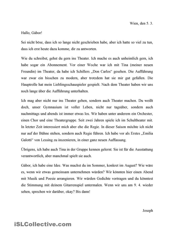 Theater Deutsch Lernen Deutsch Lernen