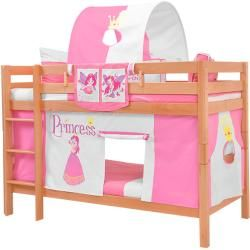 Photo of Bunk bed play bed solid beech wood, natural, incl. Roller grate 90 x 200 cm Mark Natur Princess 5