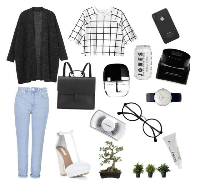 """""""My fav outfit from ......"""" by ddorrah ❤ liked on Polyvore featuring Monki, BCBGMAXAZRIA, Topshop, Danielle Foster, Junghans, MAC Cosmetics, Retrò, Marc Jacobs, Erno Laszlo and Korres"""