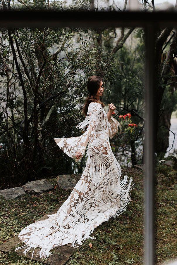 Bohemian Wedding Bride Groom Floral Headdress Boho Wedding
