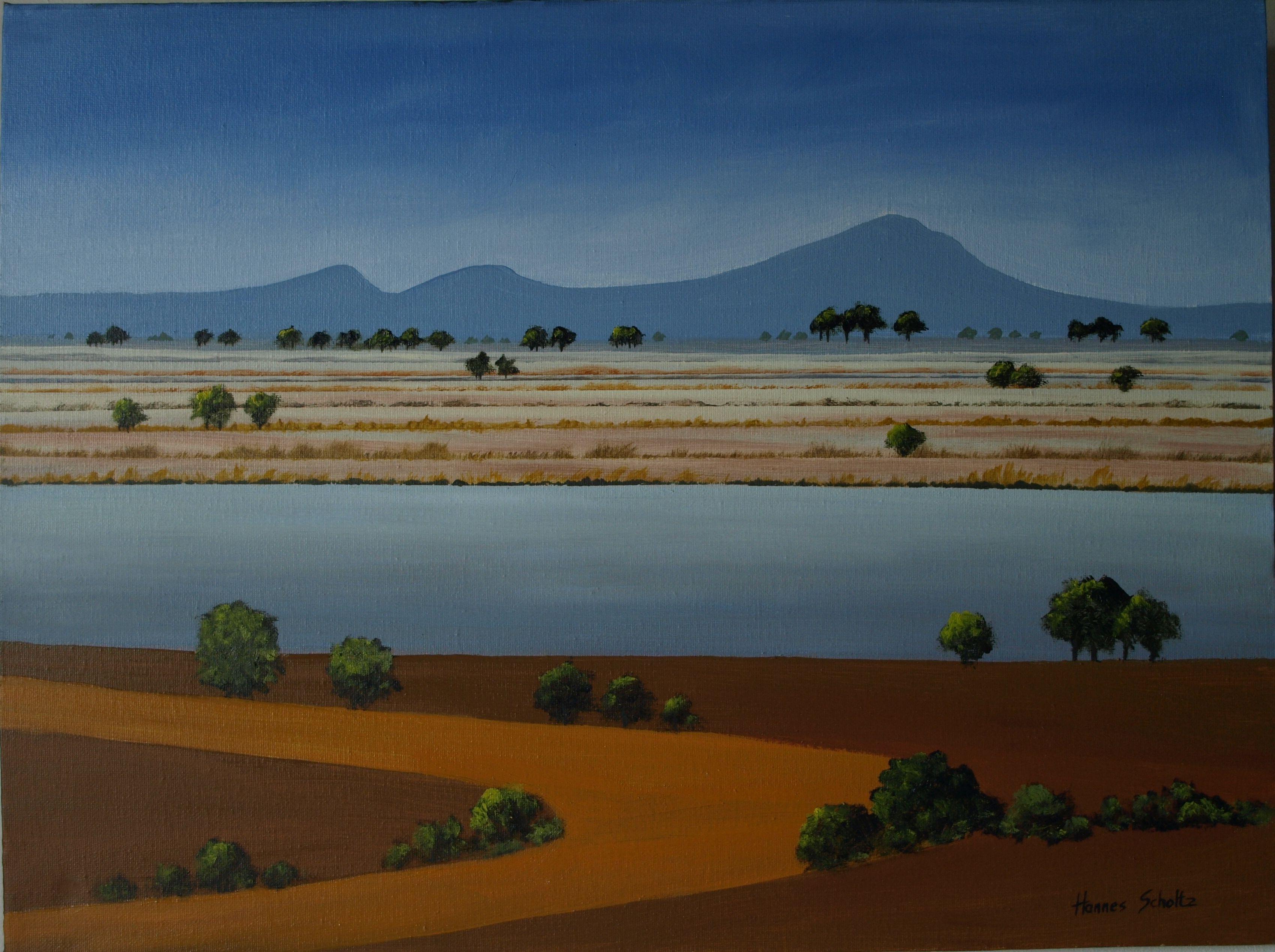 A Graphic Landscape painted by Hannes Scholtz