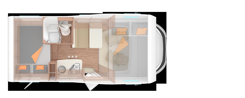Bunk Campers Vista Plus Luxury 4 Person Campervan Hire