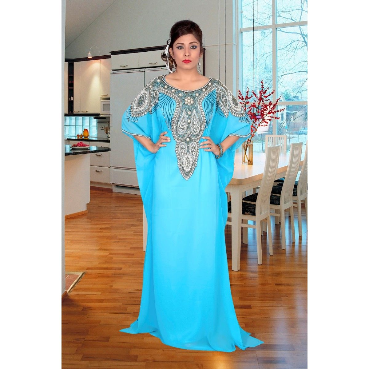 DUBAI VERY FANCY KAFTANS/ abaya jalabiya Ladies Maxi Dress Wedding ...