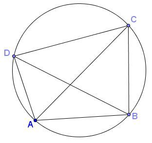 Ptolemys theorem let a convex quadrilateral abcd be inscribed in a let a convex quadrilateral abcd be inscribed in a circle then the sum of the products of the two pairs of opposite sides equals the product of its two ccuart