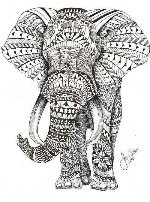 Elephant Woodburning In 2019 Mandala Elephant Tattoo