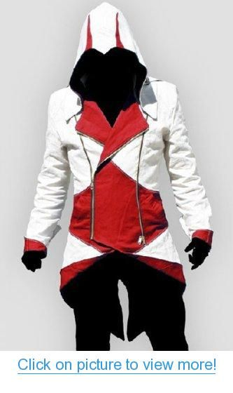 Assassin's Creed III Conner Kenway Casual Red Jacket Cosplay Costume
