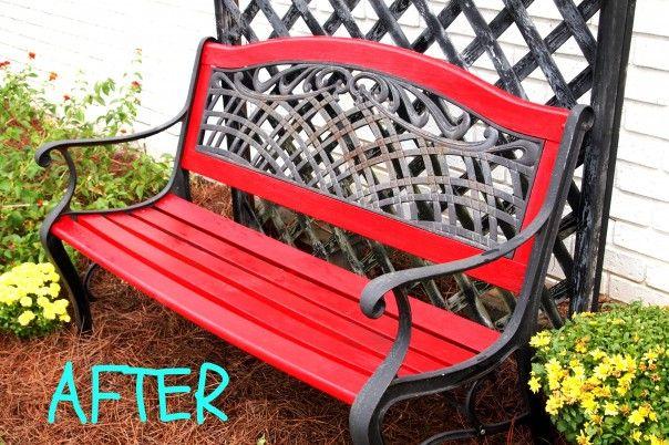 Painted Garden Bench Small Garden Bench Garden Bench Patio