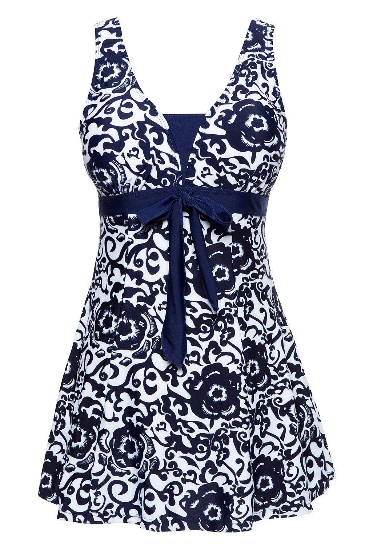 wantdo women's swimsuit plus size swimwear one-piece bathing suit