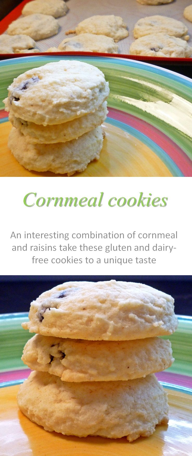 Cook at home cornmeal cookies recipe dairy free