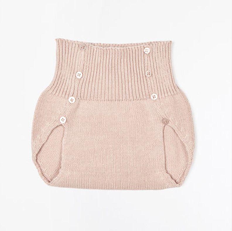 9b19949baf23c Culotte Retro-vintage rose en tricot pour petite fille   Mode Bébé par rose- de-roz