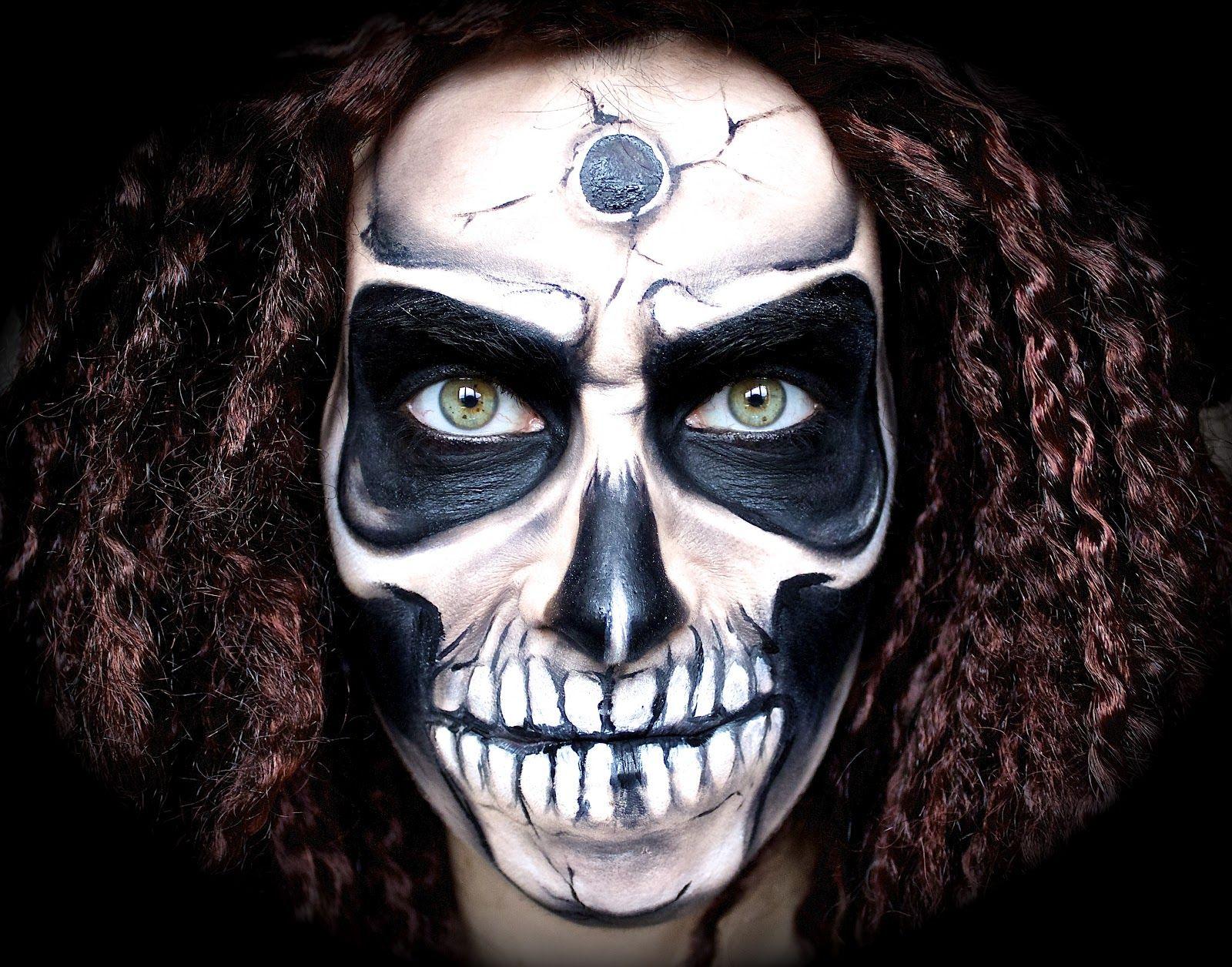 Scary/Creepy Skull Makeup Tutorial; Halloween '12