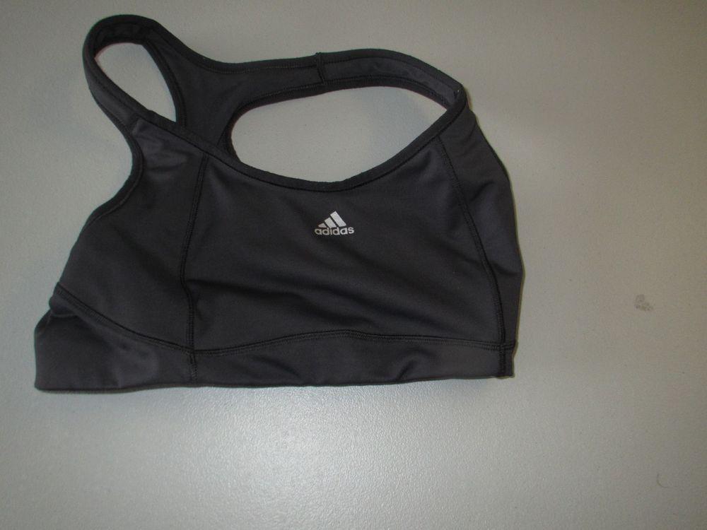 Womens Black Adidas Sport Bra SIZE 34C fashion clothing