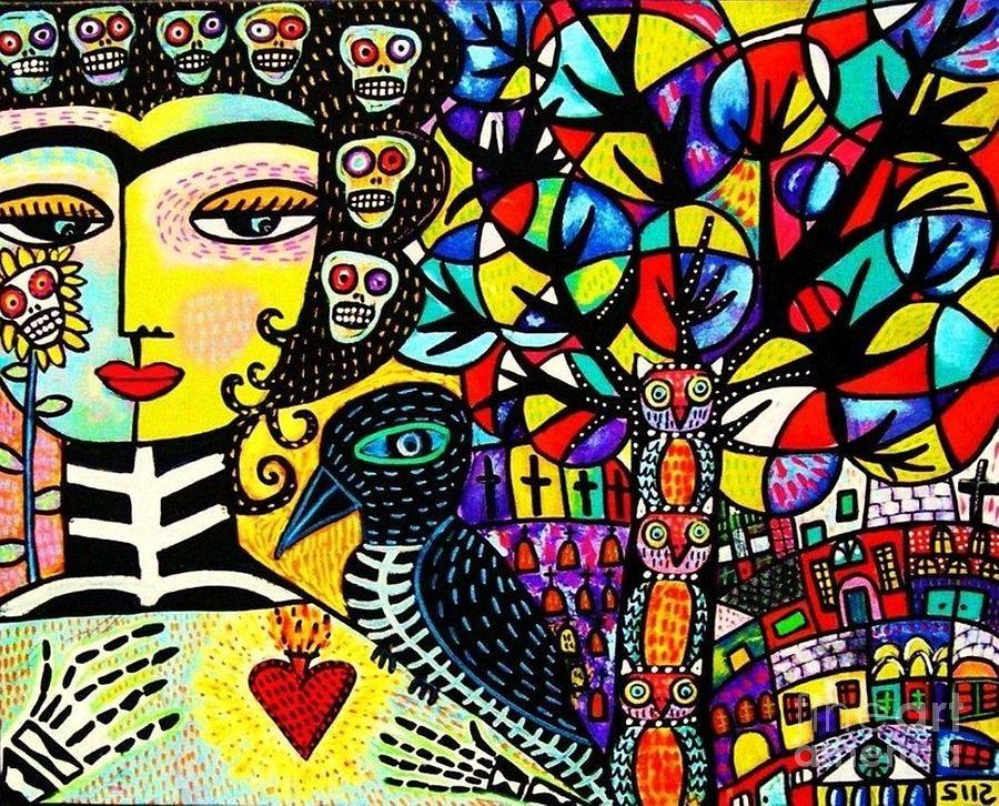 Frida y el cuervo esqueleto - Sandra Silberzweig