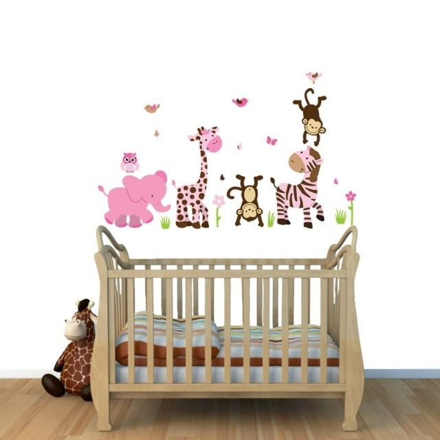 Stickers chambre bébé - 28 belles idées de décoration murale