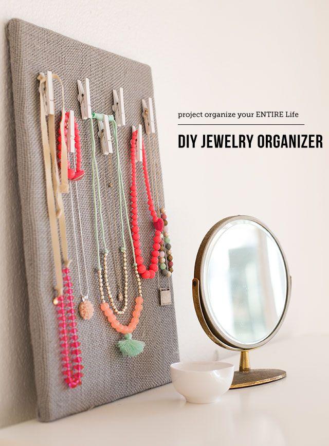 DIY Jewelry Organization Board Modern Parents