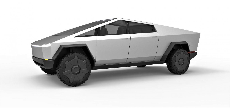 Tesla Cyberpunk Truck 3d Model In Concept 3dexport Tesla Trucks Toy Car