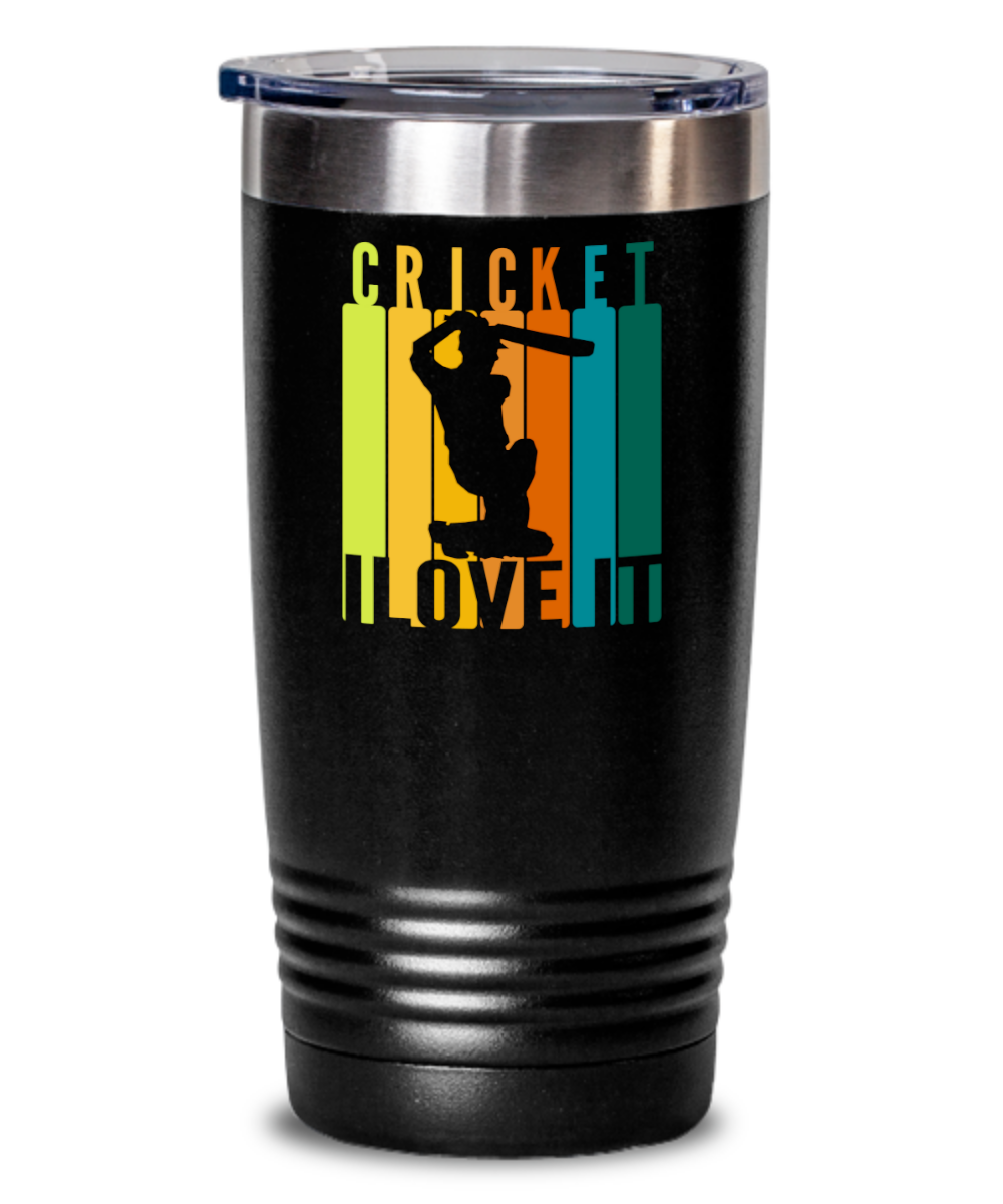 This I Love Cricket tumbler is the perfect gift for that