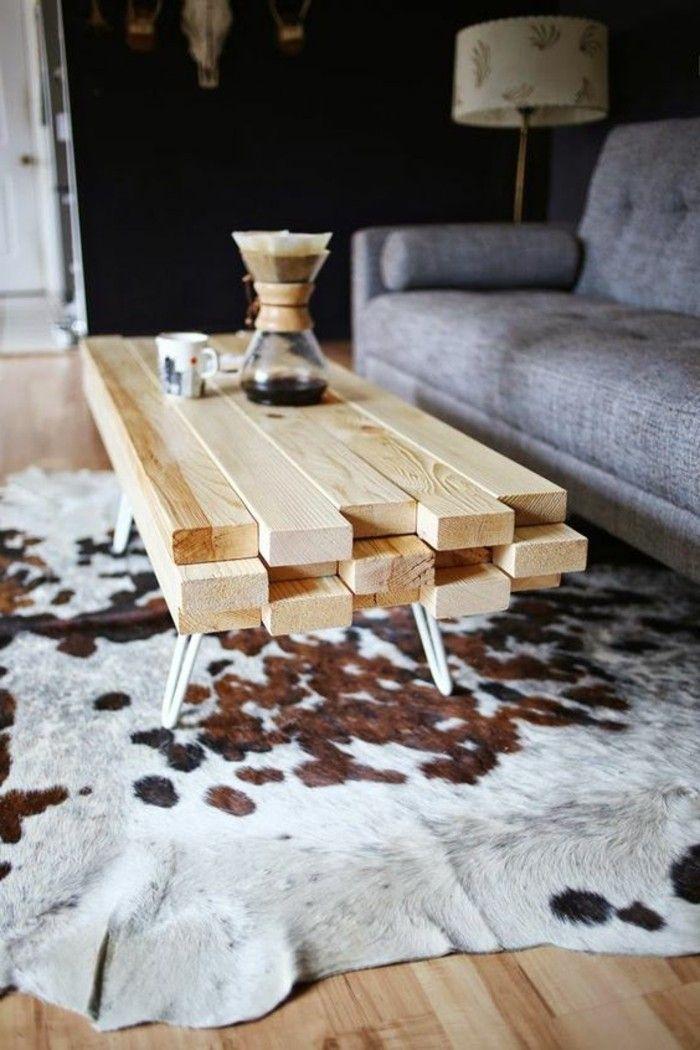 Fantastisch diy moebel wohnideen selber machen tisch aus holz grauer sofa  ZI47