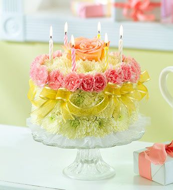 Ever A Birthday Try This Real Flower Cake Made Completely Out Of Flowers Unique