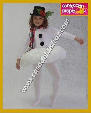 64928bcd6 Disfraz de Muñeco de Nieve para niña.  Disfraces  Navidad  www.casadeldisfraz.com