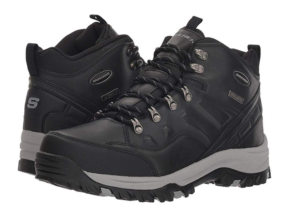 Skechers relaxed fit resment traven mens boots black
