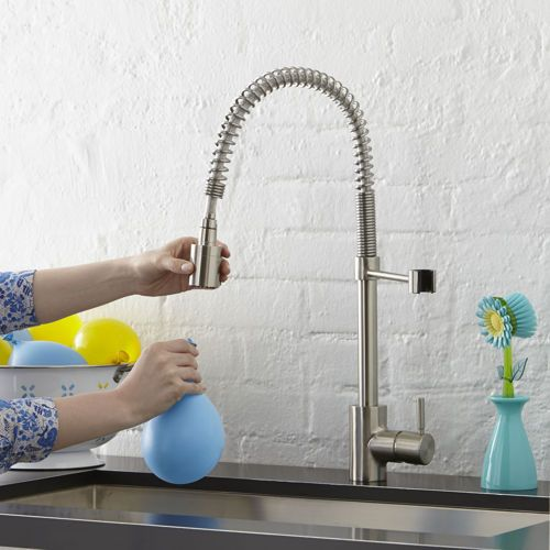 The Foodie™ Single-Handle Pull-Down Pre-Rinse Kitchen Faucet ...