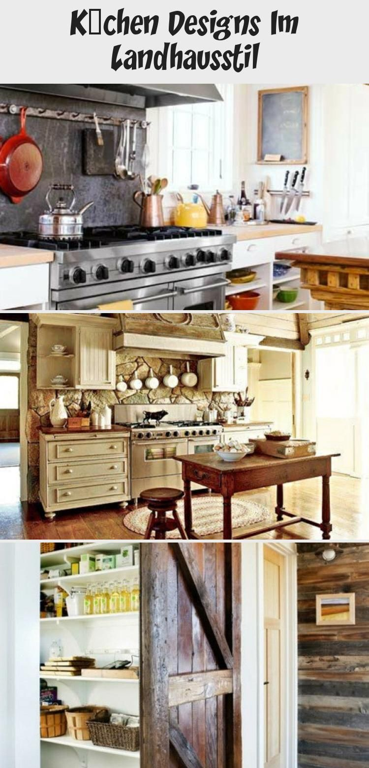 Küchen Designs im Landhausstil landhausküche skandinavischeküche kochinsel theke holz stil ...