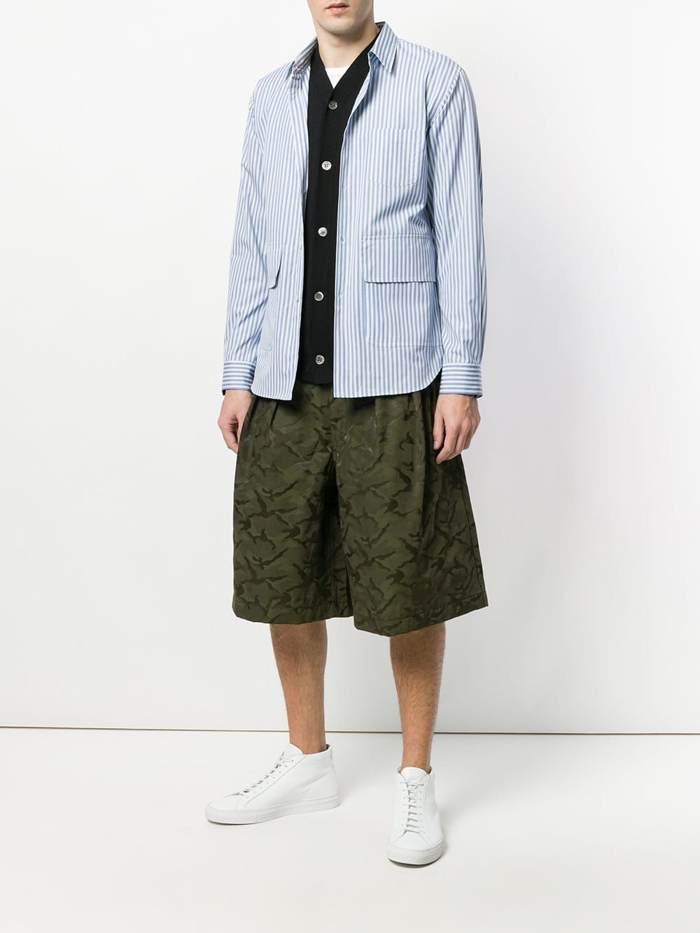 8e3b73dd4e Comme Des Garçons Shirt Boys Oversized Pockets Striped Shirt | BLUE ...