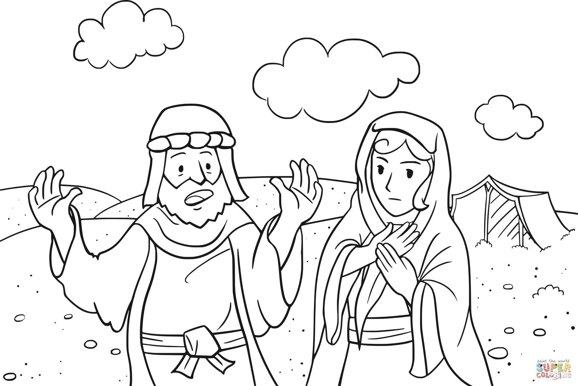 Coloring Page Abraham Bible Coloring Pages Abraham And Sarah Coloring Pages