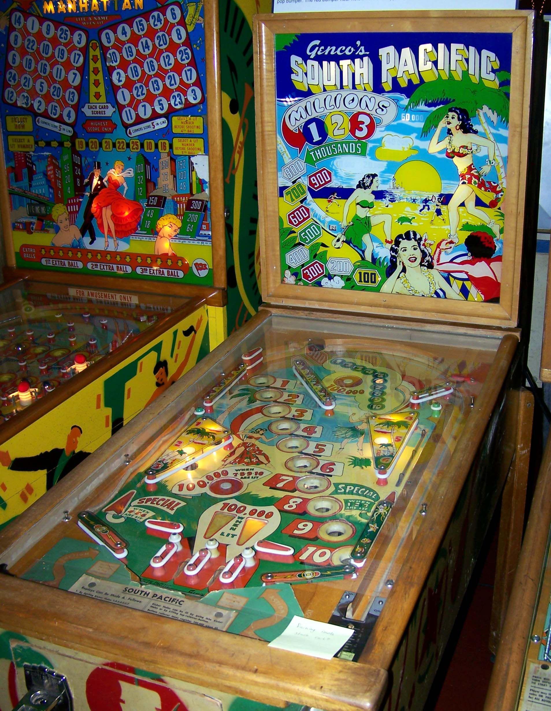 """1950 South Pacífic """"Gencos"""" Pinball Machine Pinball"""