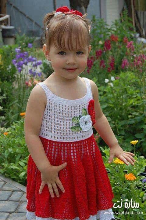 Crochet dress | Crochet Vestidos de Criança | Pinterest | Textiles ...