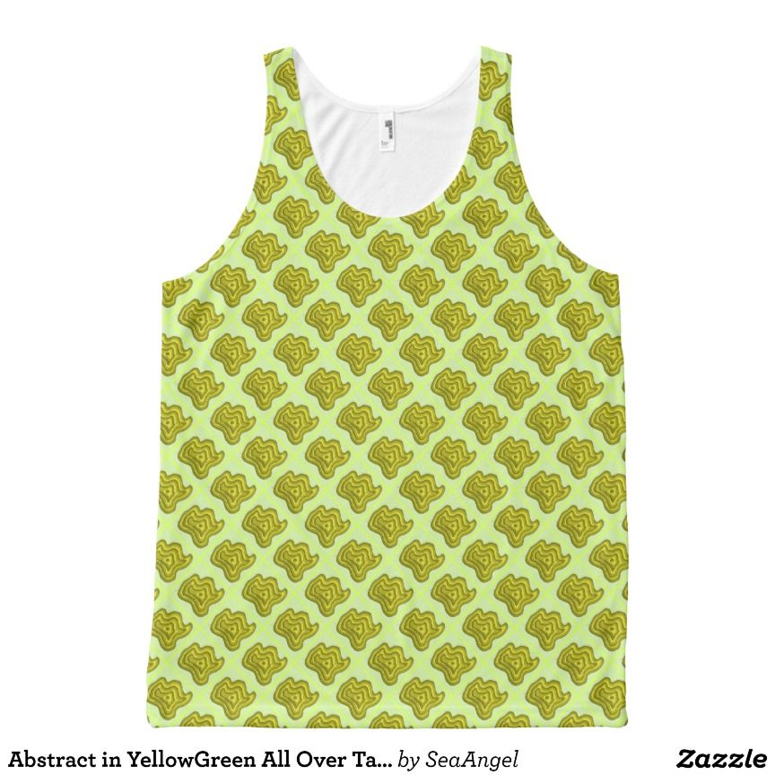 dfc7662afc39e4 Abstract in YellowGreen All Over Tank Top All-Over Print Tank Top Tank Tops