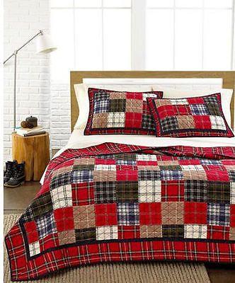 Martha Stewart Plaid Patchwork Multi Plaid Full Queen Quilt ... : martha stewart baby quilt - Adamdwight.com