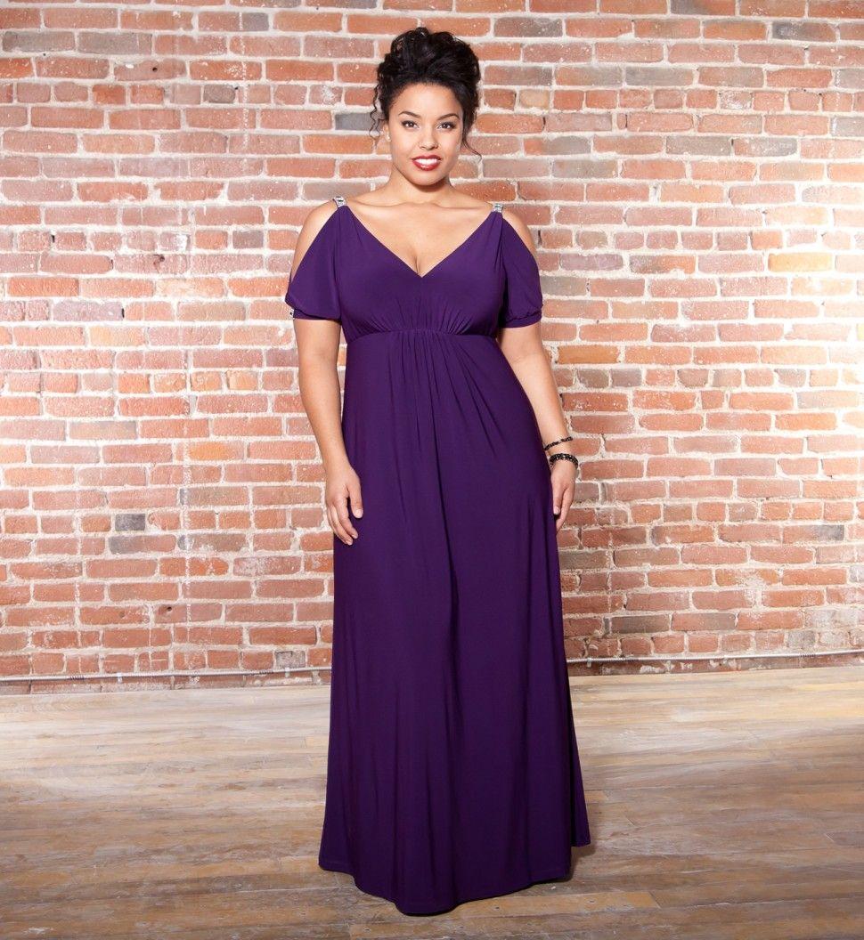 perfect plus size gown | Ropa | Pinterest | Vestido formal, Vestidos ...