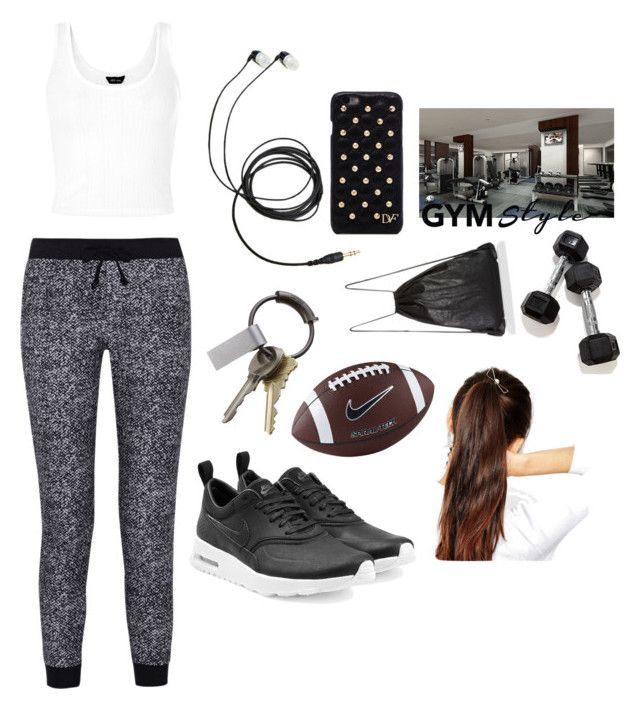 """""""Gym"""" by leonetta-528 ❤ liked on Polyvore featuring Splendid, NIKE, CB2, ASOS and Diane Von Furstenberg"""