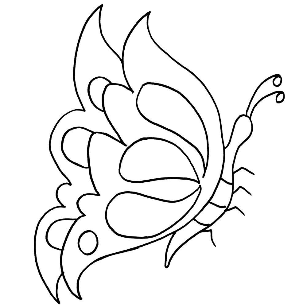 Mariposas para pintar en tela mariposas pinterest - Dibujos infantiles para pintar en tela ...
