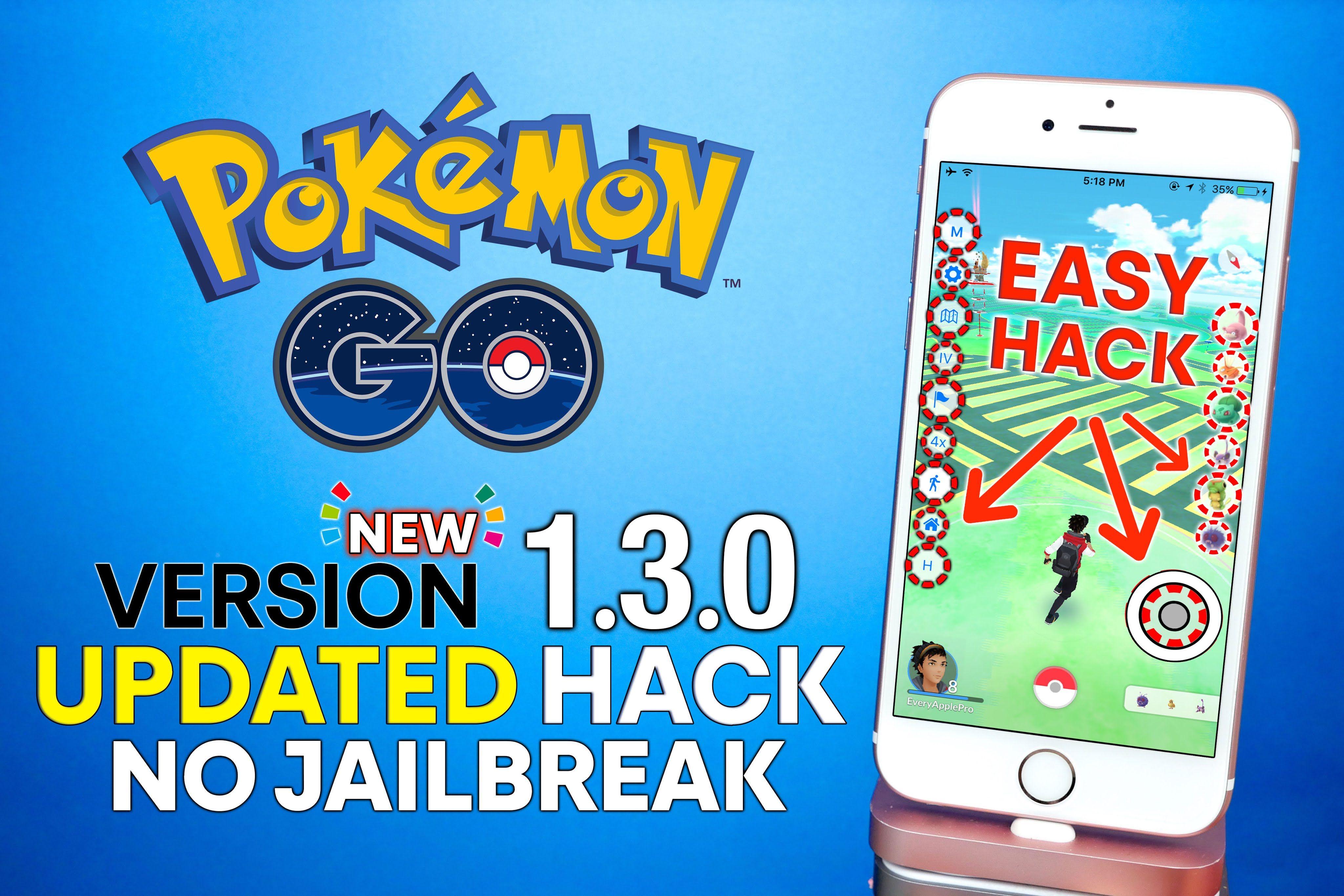 Pokemon GO 1.3.0 Hack NO Jailbreak! Tap To Walk, Map Hack