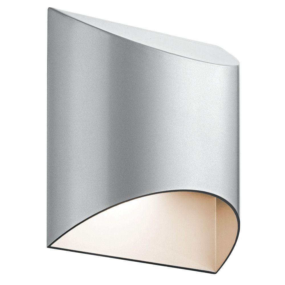 Kichler lighting wesly platinum led outdoor wall light lights