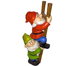 Design Toscano Up The Ladder Climbing Gnomes Statue Qvc Com