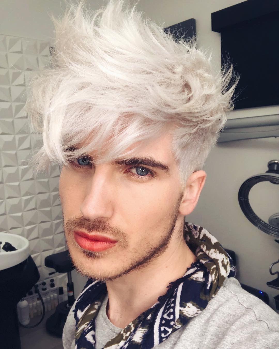 Jack Frost Vibes Joeygraceffa Jack Frost Vibes Joeygraceffa Cuando Llega La Primavera Siemp White Hair Men Men Blonde Hair Men Hair Color