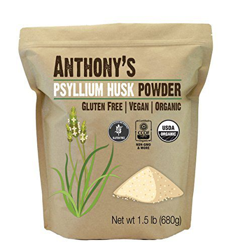 Anthony's Organic Psyllium Husk Powder (1.5lb), Gluten