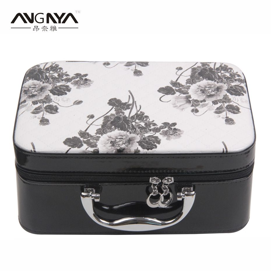 898ddc30249b 3Pcs/Set ANGNYA Flower Printed PU Leather Cosmetic Bag Travel ...