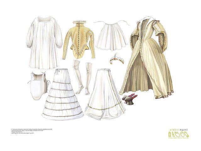 Moda dama española siglo XVI, por Albert Martí | Medieval ...