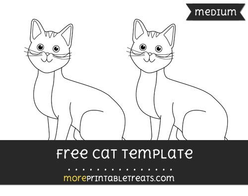 Free Cat Template - Medium