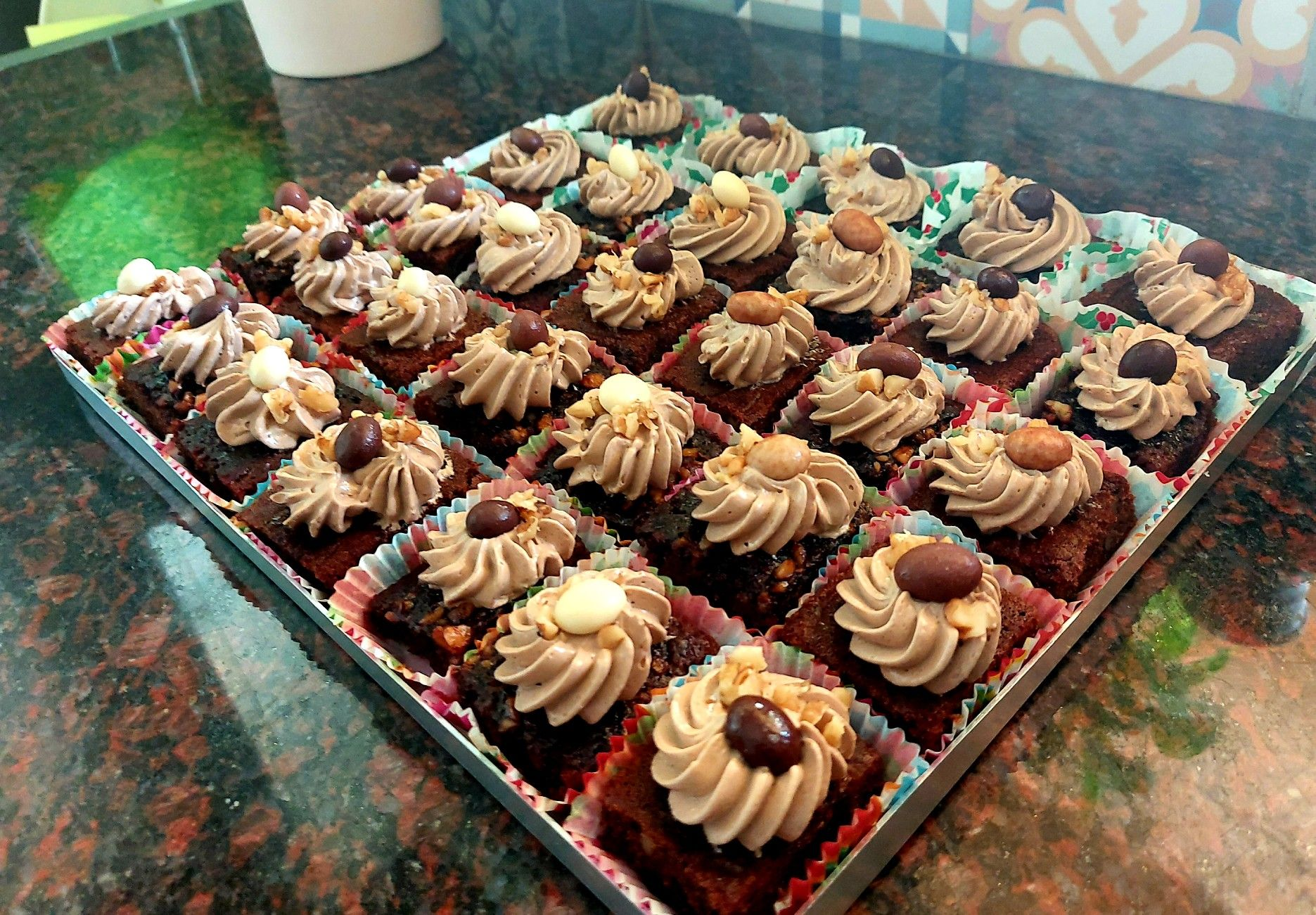 Coffee Date Cake Squares With Mocha Buttercream And Chocolate Coated Coffee Beans In 2020 Chocolate Coated Coffee Bean Date Cake Chocolate Coating