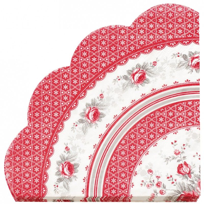 GreenGate Paper Napkin Round Sophie Vintage 20 Pieces | Autumn/Winter 2013 | Originated-Webshop